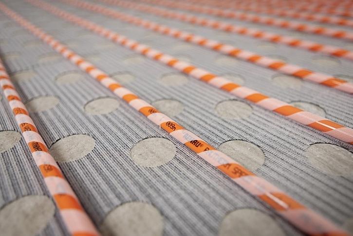 Podlahové vytápění na suchý zip