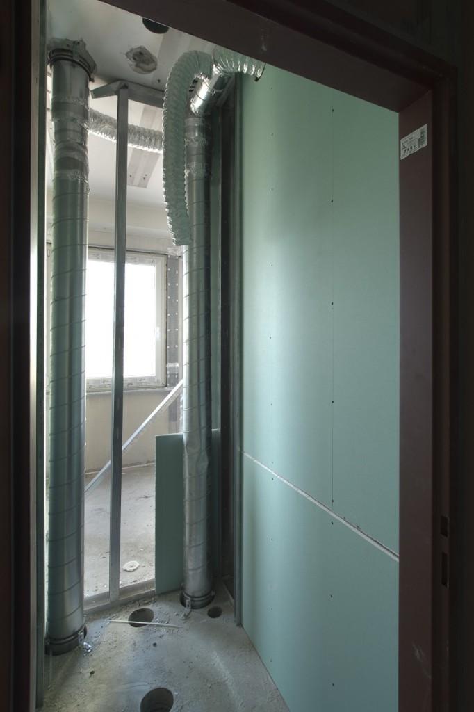 4V místech, kde se vyskytuje vlhkost, je nutné používat impregnované sádrokartonové desky Knauf Green.
