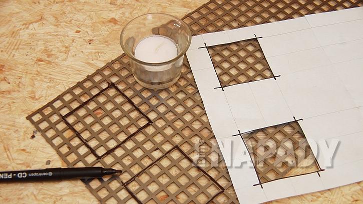 Stojánek na svíčky i ohříváček na čaj: vyznačíme místa na otvory pro svíčky