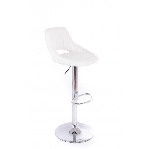G21 Barová židle Aletra koženková, prošívaná bíl