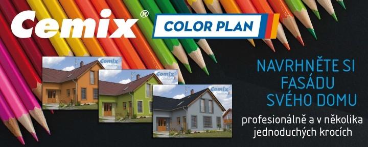 COLOR PLAN pracuje s jedinečným vzorníkem barev Cemix duhově krásný.