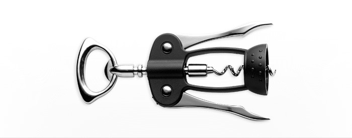 Fiskars designová vývrtka ke snadnému otevírání lahví