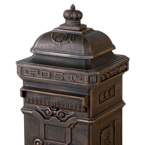 Tuin 1278 Dekorativní poštovní schránka antik - tmavá mosaz