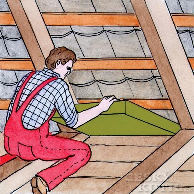 Zateplení trámového stropu