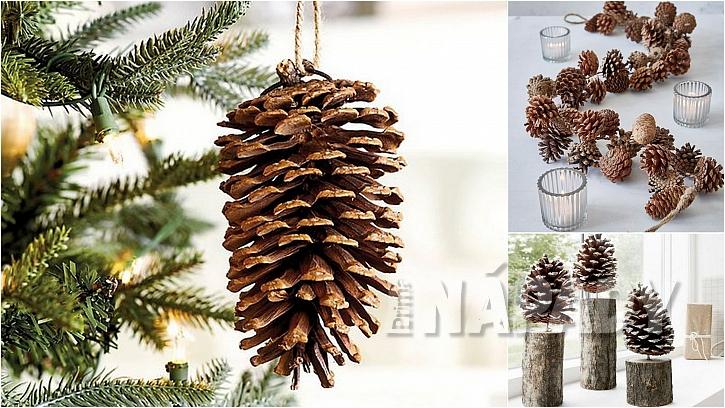 Vánoce ve stylu natur: voňavé šišky