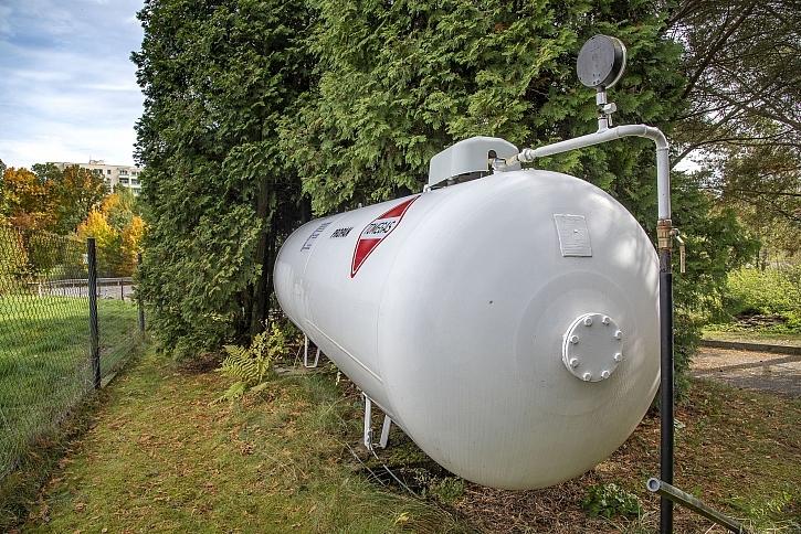 Kam umístit nádrž na kapalný propan?