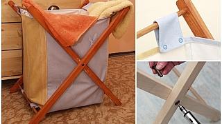 Udělejte si skládací koš na prádlo: Nezabírá místo avejde se všude