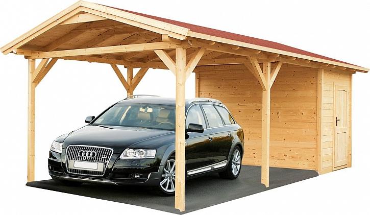 dřevěný přístřešek pro auto