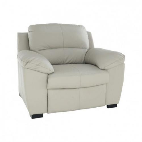 Kožená sedačka, Kůže pampas hellgrau M9010, DANILO, Tempo Kondela