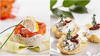 Silvestrovské recepty na terinky z uzeného lososa a křupavé sýrové košíčky