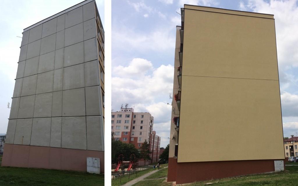 Provětrávaná fasáda mění ráz chladných panelových domů