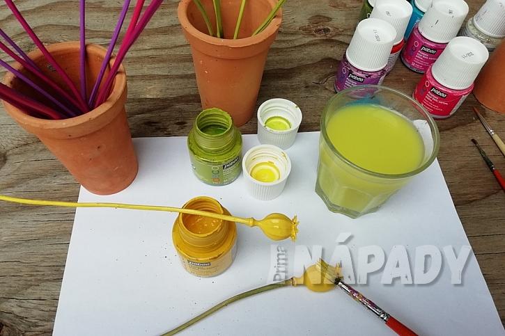 Letní dekorace z makovic: natřete makovice