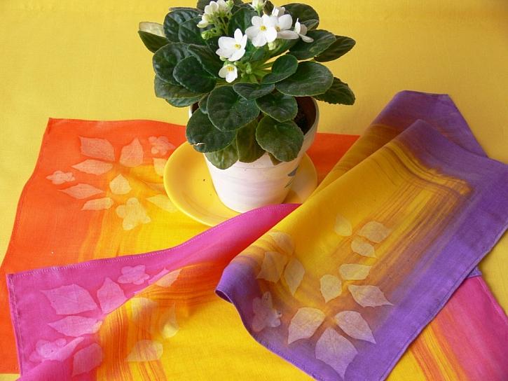 Batikovaný bytový textil