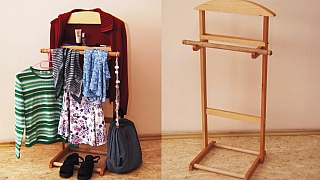 Němý sluha: Vyrobte si dřevěný stojan na šaty