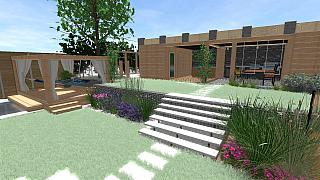 Realizace zahrady dokola a kolem se Zeleným kolem