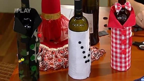 Dekorace láhví vína