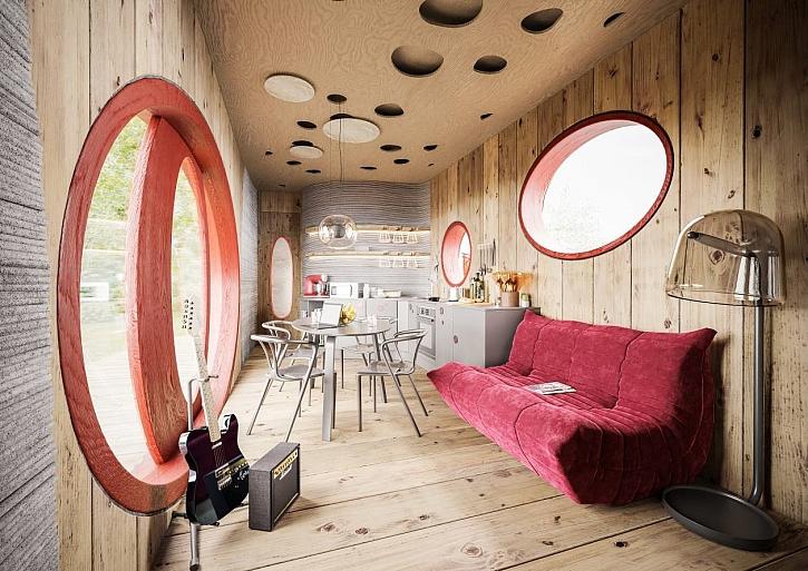 První český dům z 3D tiskárny je na světě (Zdroj: Stavební spořitelna České spořitelny)