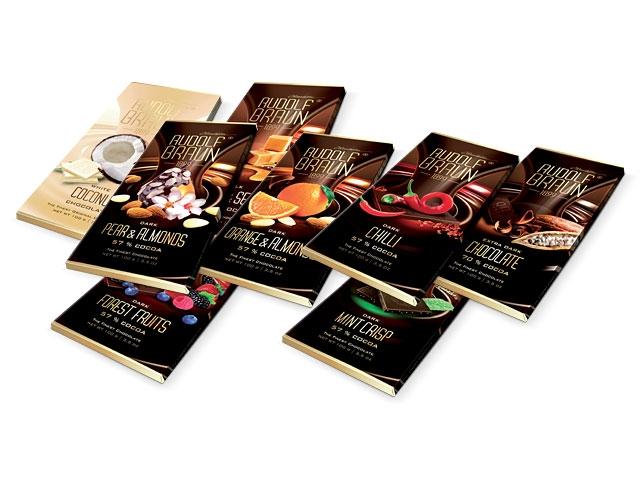Čokolády různé příchutě