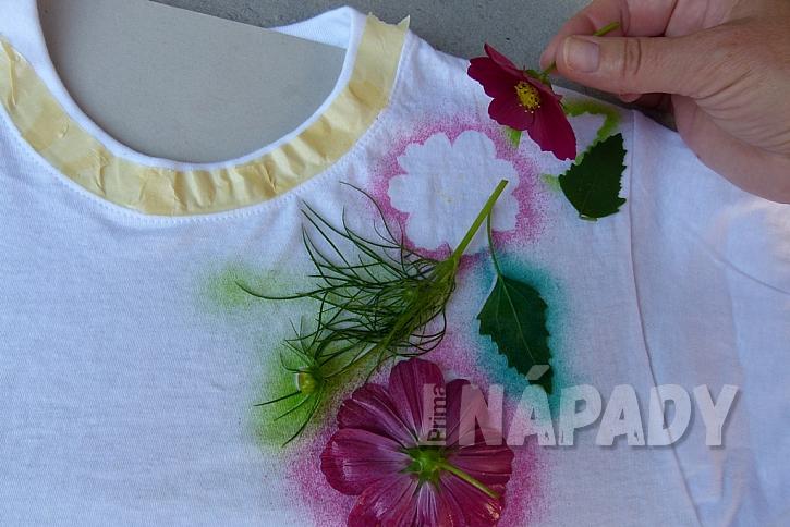 Rozkvetlé tričko aneb Pohrajte si s foukacími fixy 6