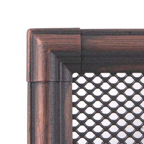Krbová mřížka 10x20cm RETRO měděná patina