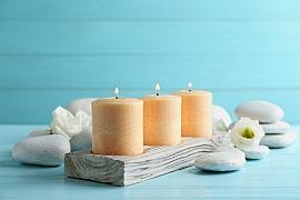 Vyrobte si dřevěný svícen na zahradu