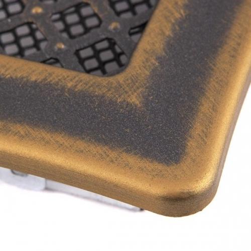 Krbová mřížka 16x16cm DECO zlatá patina