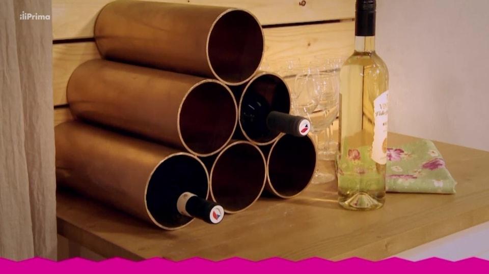 Vinotéka z novodurové trubky: Jak doma stylově ukládat víno