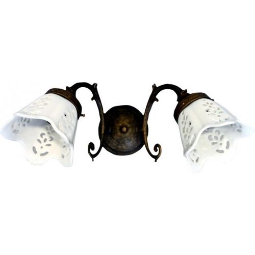 SAPHO BRINDISI svítidlo E14 2x40W, 230V, keramické stínítko, bronz MC052