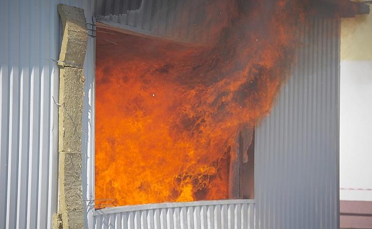 Fasáda ROCKPROFIL součástí požárního experimentu