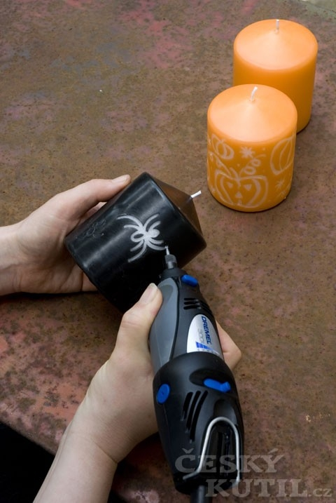 S mikronářadím svého kutila snadno zvládnete přípravy na Halloween a výrobu halloweenské svíčky