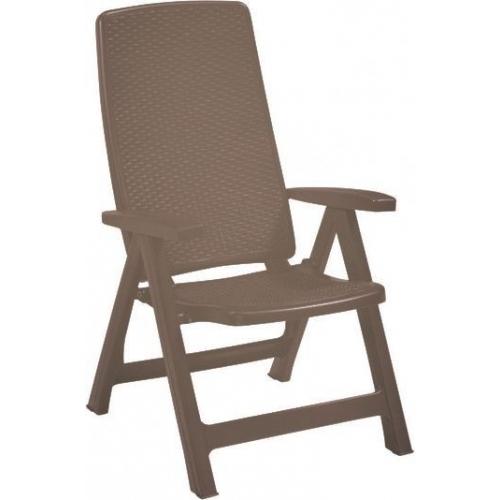 ALLIBERT MONTREAL zahradní židle polohovací, 63 x 67 x 111 cm, cappuccino