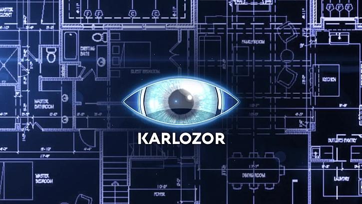 Karlozor a od zabalený sloup do stahovací fólie