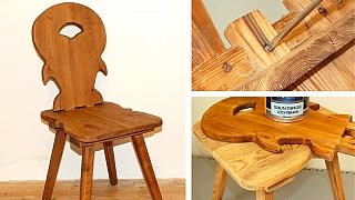 Jak opravit starou dřevěnou židli v selském stylu