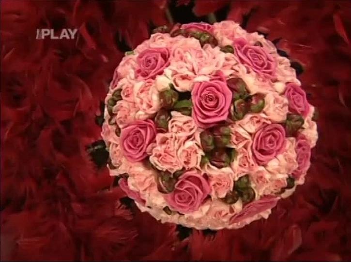 Květinová dekorace na svatého Valentýna