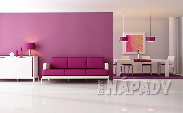 růžový obývací pokoj