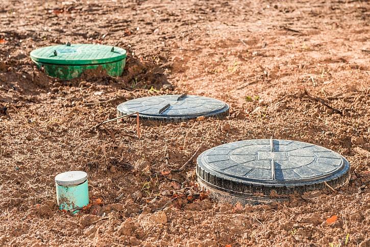 Příprava podloží a instalace jímky na dešťovou vodu
