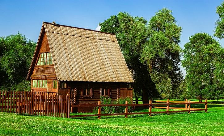 Dřevěná stavení jsou velmi hezká a milá na pohled