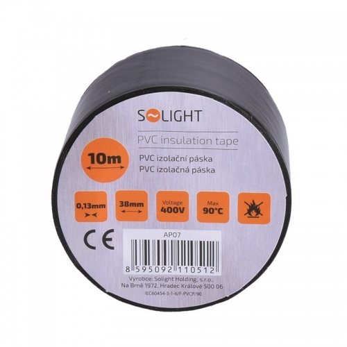 Izolační páska, 38mm x 0,13mm x 10m, černá