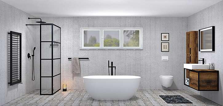 Moderní koupelna v designu Black od Sapha