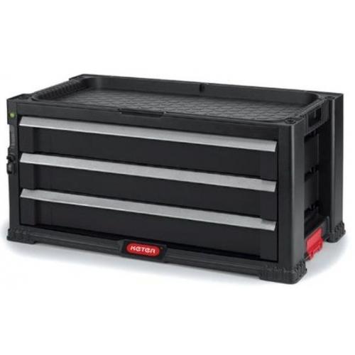 KETER box na nářadí - 3 zásuvky black/red