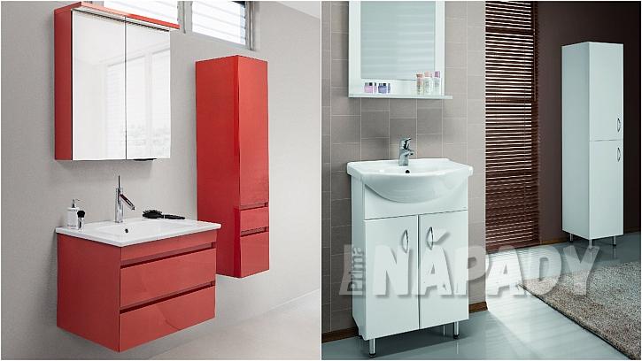 Závěsný koupelnový nábytek MAJESTY a samostojný PLUTO