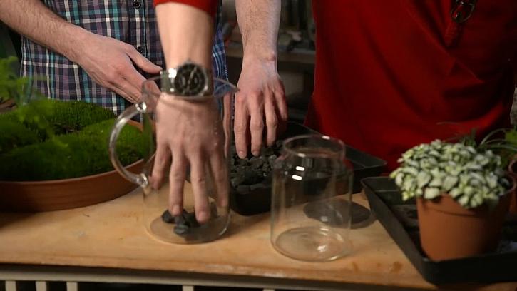 Plnění skleničky
