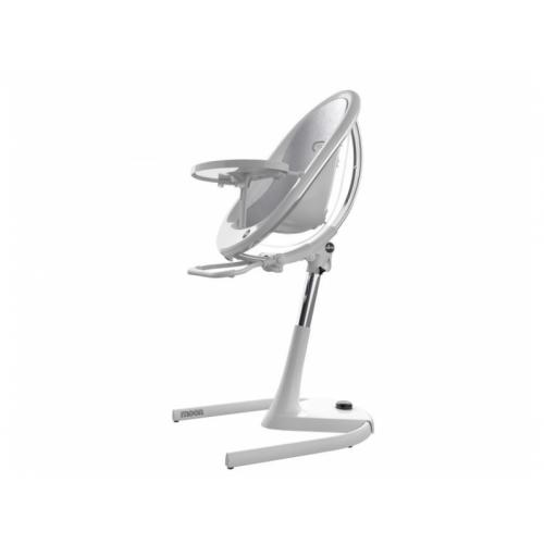 Mima Židlička Moon 2G chrom / průhledná + opěrka nohou