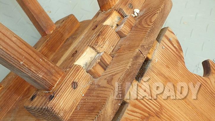 Jak opravit starou židli v selském stylu: opěradlo vytáhneme