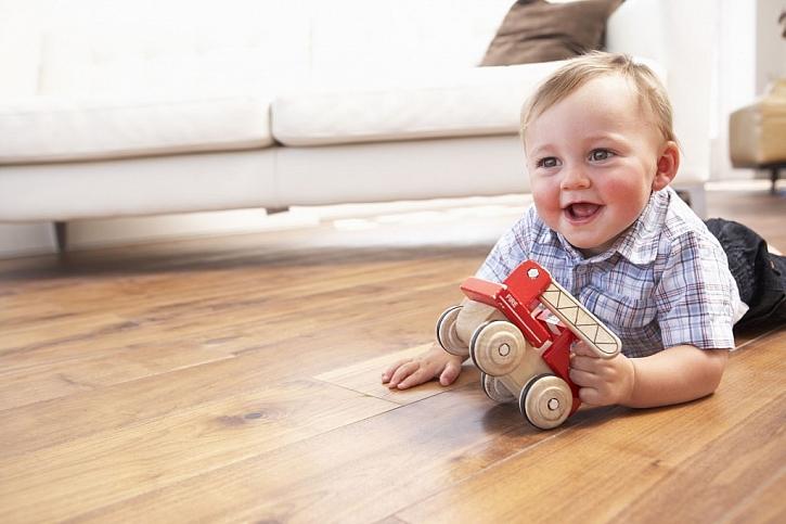 I děti milují kontakt se dřevem