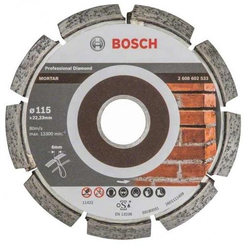 BOSCH Expert for Mortar Diamantový dělicí kotouč, 115 x 6 x 7 x 22,23 mm