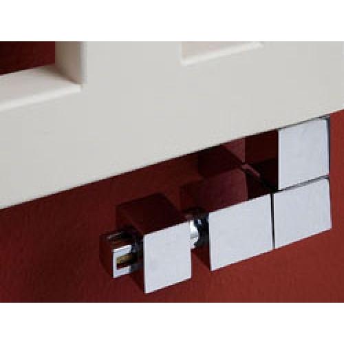 P.M.H CUBE Ventil CUBE-CET-L - levý /chrom + termostatická hlavice