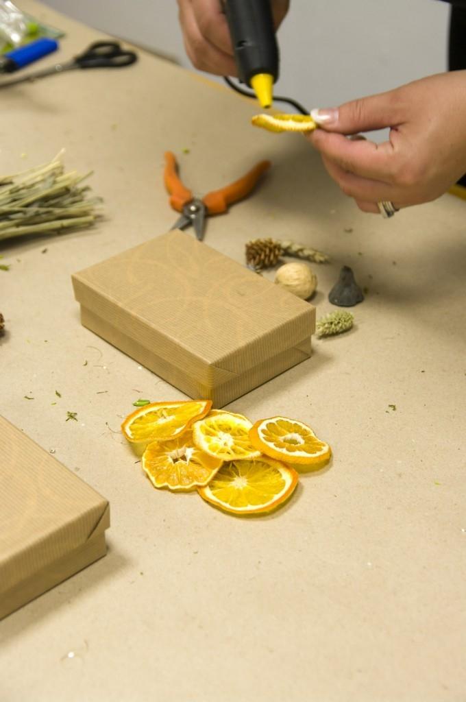 Postup na krabičku na dárky: