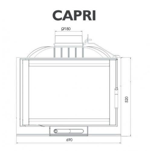 NORDFLAM krbová vložka Capri