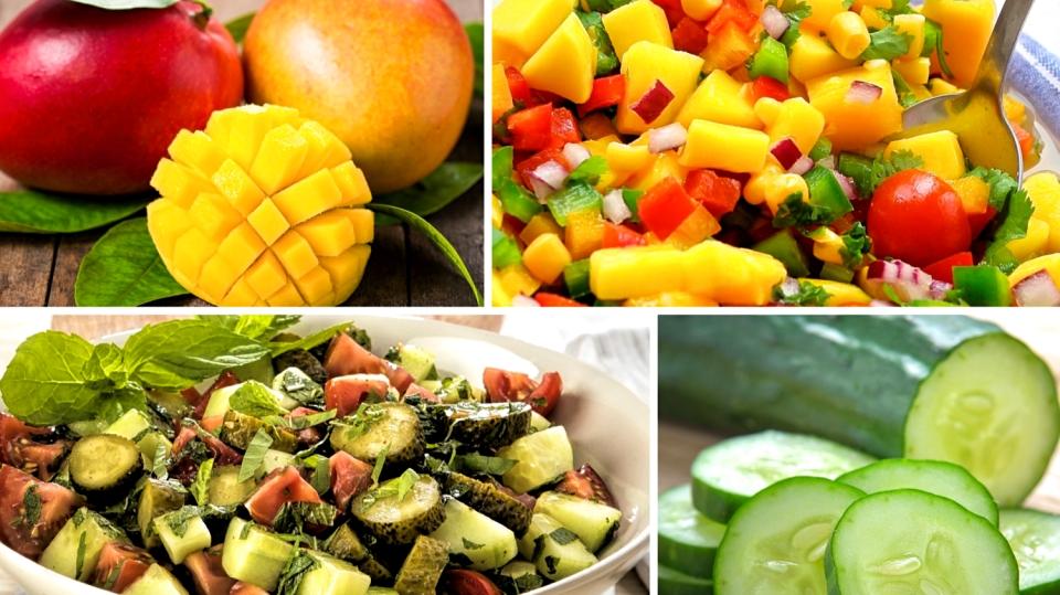 Osvěžující letní saláty: Mango skoriandrem aokurky smátou